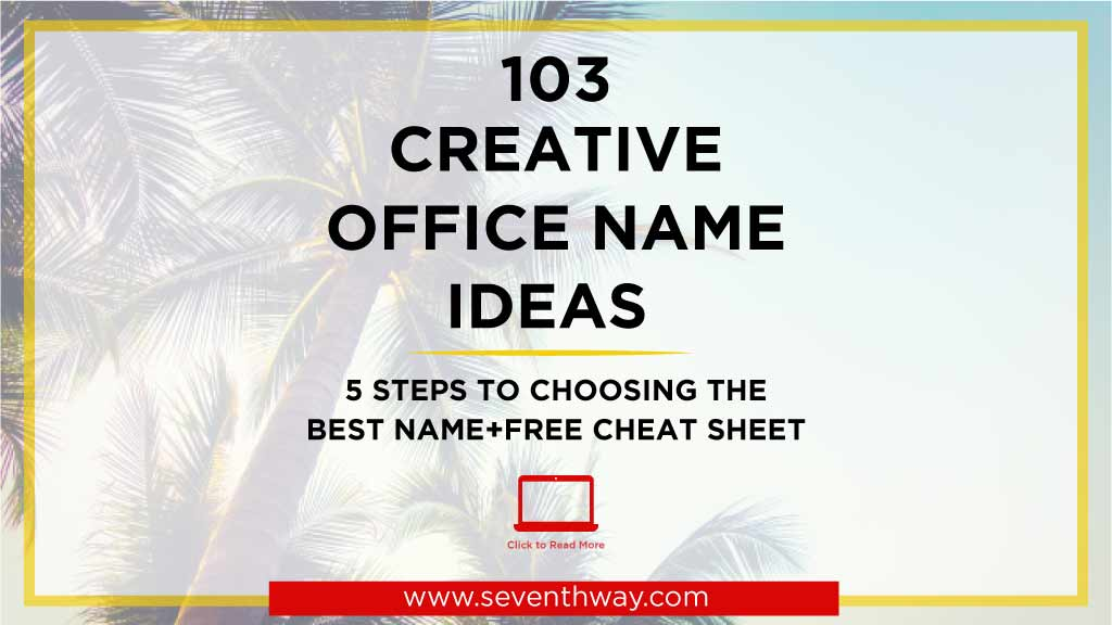 catchy office name ideas